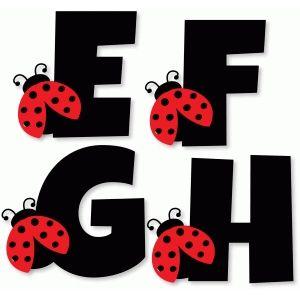 Silhouette Design Store - Search Designs : Ladybug alphabet