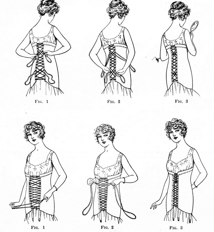 >Correct Corset Adjustment, 1917 | Wearing History