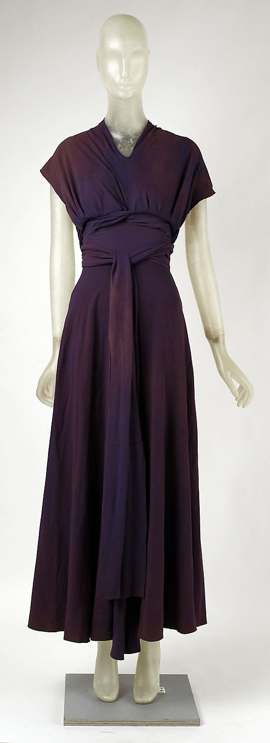 Evening Dress 1934, French, Made of silk