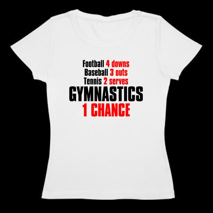 Gymnastic's T shirt - ONE chance by SportChick on Etsy https://www.etsy.com/transaction/1019327467