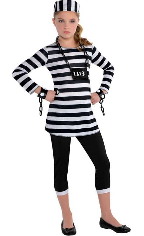 girls trouble maker prisoner costume party city - Swat Costumes For Halloween