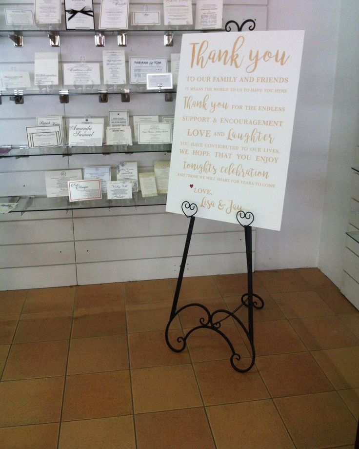 This Black Steel Wedding Easel is a new addition to our store! Great for one of our A2 & A1 Foam board signs like the one pictured! It's the perfect finishing touch to any wedding & is available for hire through our showroom! New colours coming soon! #inspireddesign #weddinginspo #weddingstationery #melbourneweddings #madeinmelbourne #custommade #weddingeasentials #welcomesign #seatingchart #australianwedding  #Regram via @inspireddesigninvites