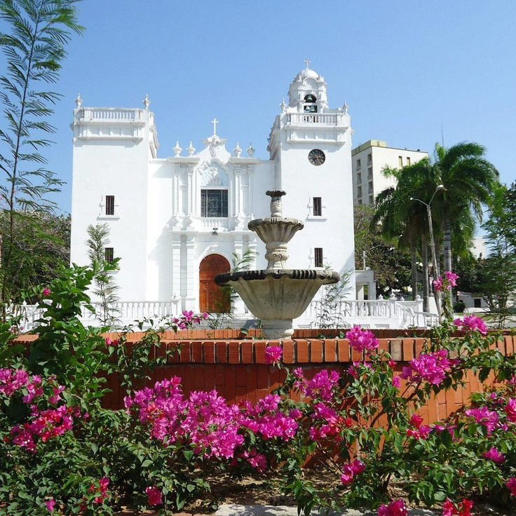 Church of the Immaculate Conception, built in the early twentieth century, based on the plan of a church in Panama city. Built  by Karl C. Parrish urban development company, Barranquilla, Colombia