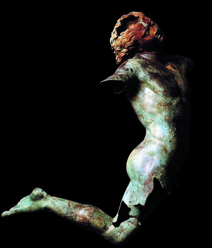 Dancing Satyr of Mazara del Vallo, Greek bronze statue, 4th C BC.