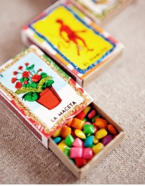 Matchbox Chiclets for Mexico Wedding Favors