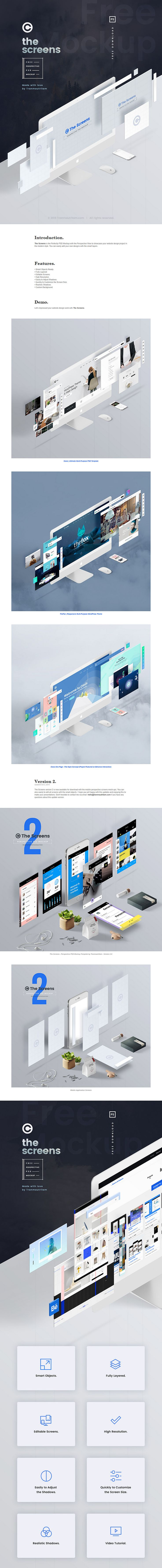 Perspective Web PSD Mockup - ByPeople