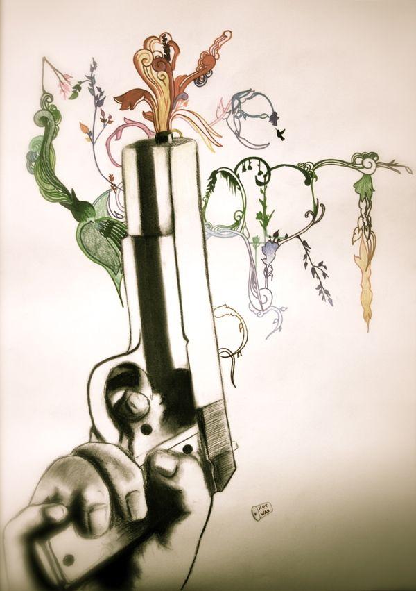 Make Art. Not War by McKay Anderson, via Behance