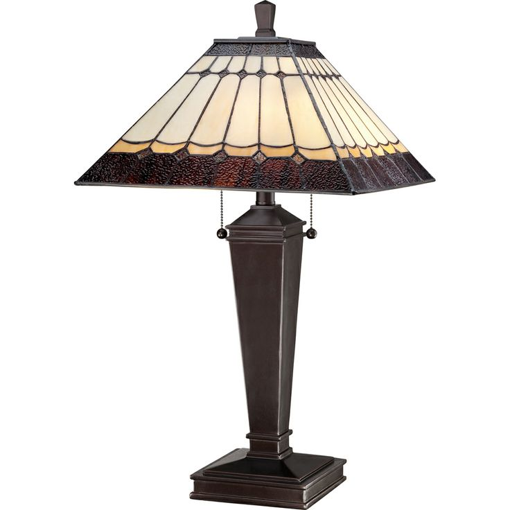 2 Light Bach Tiffany Table Lamp By Quoizel Lighting   TF1574T