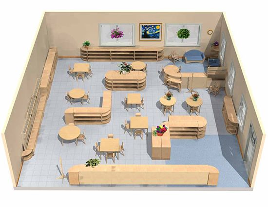 Modern Montessori Classroom ~ Best images about preschool layout on pinterest