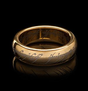 One year anniversary? Much like the One Ring in the movies, which was impervious to damage except to volcanic lava of Mount Doom, this Tungsten Carbide One Ring replica has the highest melting point of all non-alloyed metals and is scratch resistant.