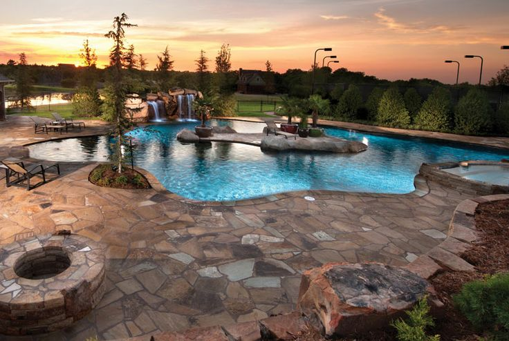 View This Great Swimming Pool With Raised Beds U0026 Fountain By Caviness  Landscape Design. Discover U0026 Browse Thousands Of Other Home Design Ideas On  Zillow ...