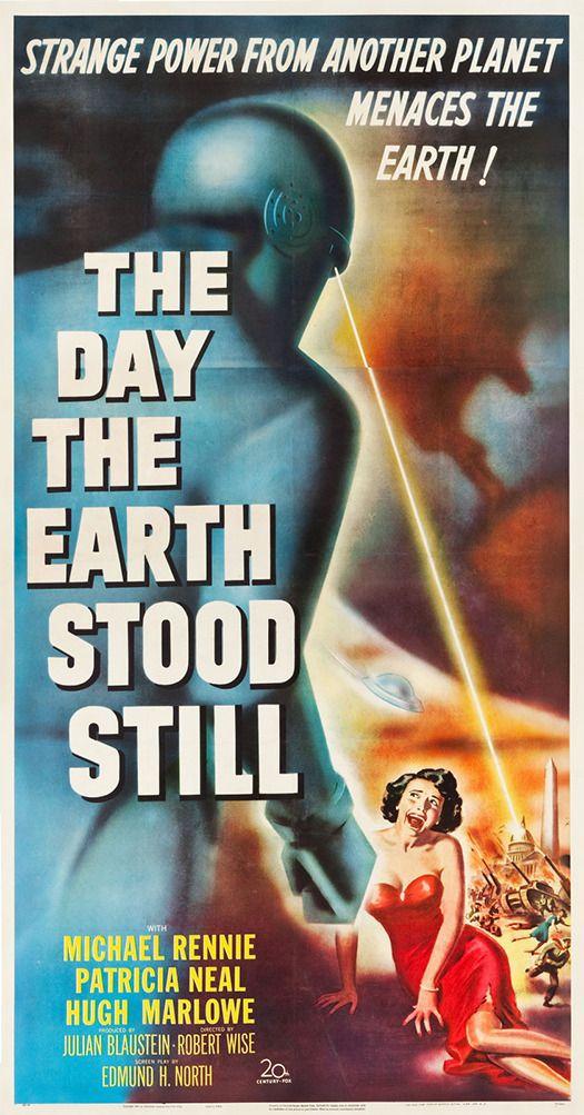 O Dia em que a Terra Parou, 1951. http://chocoladesign.com/wp-content/uploads/2013/11/O-Dia-em-que-a-Terra-Parou.jpg