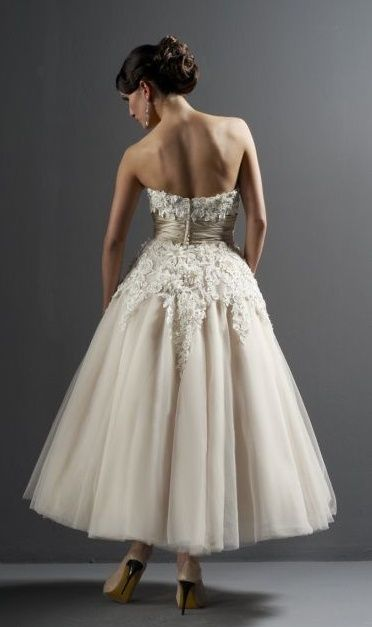 Champagne wedding dress...Kat! Look!