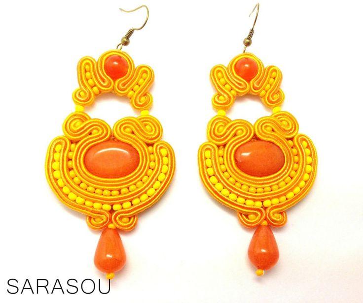 #Sarasou #soutache #soutacheembriodery   #statementearrings  #chandelierearrings
