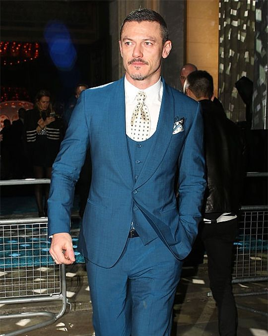 Luke Evans attending the The Brit Awards, Warner Music Group After Party on February 24, 2016 in London, England.