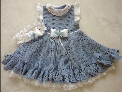 Crochet Patterns| for free |crochet baby dress| 1752 - YouTube