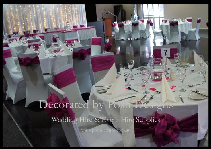 #Hot pink sashes, #hot pink bridal skirting - #wedding and #event #theming available at #poshdesignsweddings - #sydneyweddings #countryweddings #southcoastweddings #wollongongweddings #ruffledsashes #weddingsashes All stock owned by Posh Designs Wedding & Event Supplies – lisa@poshdesigns.com.au or visit www.poshdesigns.com.au or www.facebook.com/.poshdesigns.com.au #Wedding #reception #decorations #Outdoor #ceremony decorations #Corporate #event decoration #Fundraising decoration…