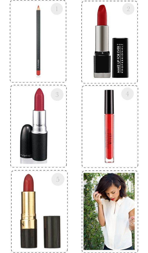 my top 5 for perfect red lips