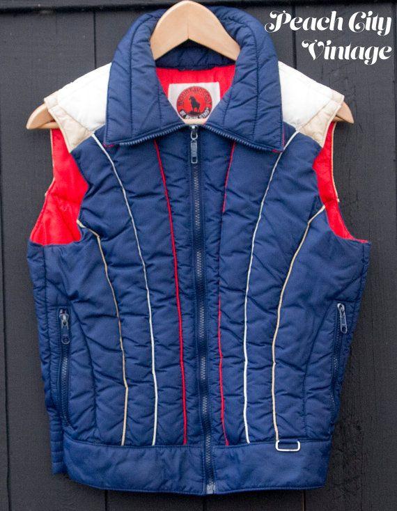 Vintage Ski Vest by White Stag by PeachCityVintage on Etsy