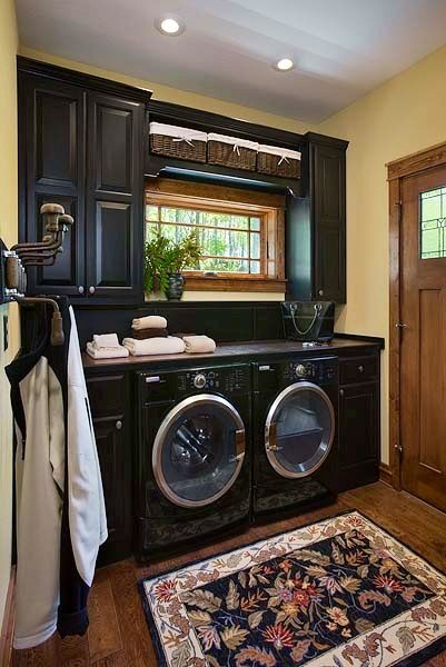 A Laundry Room That Is So Functional And Amazing Looking. ♥ The Cute Little  Window