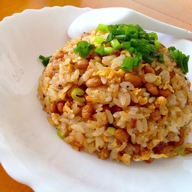 今日のお昼ご飯は納豆炒飯 - 43件のもぐもぐ - 納豆玉子チャーハン by fighterscurry