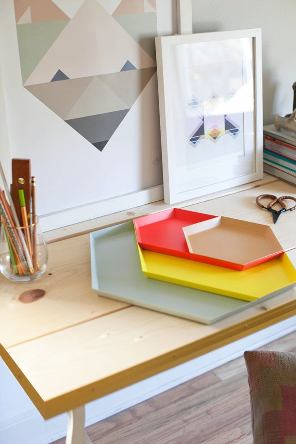 DIY Trestle Desk by Claire Zinnecker | photos by Kate Stafford for Camille Styles