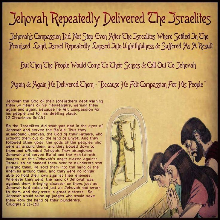 """Jehovah Repeatedly Delivered The Israelites // Jehovah's Compassion Did Not Stop Even After The Isrealites When Settled In The Promised Land, Israel Repeatedly Lapsed Into Unfaithfulness & Suffered As A Result // But Then The People Would Come To Their Senses & Call Out To Jehovah // Again & Again He Delivered Them - """"Because He Felt Compassion For His People """" // Jehovah the God of their forefathers kept warning them by means of his messengers, warning them again and again, because he felt…"""