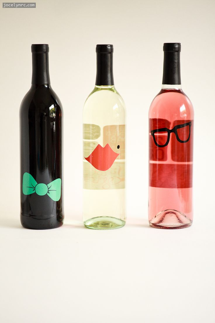 really cute wine label | back