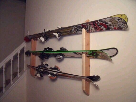 Cool Way To Display And Store Skis