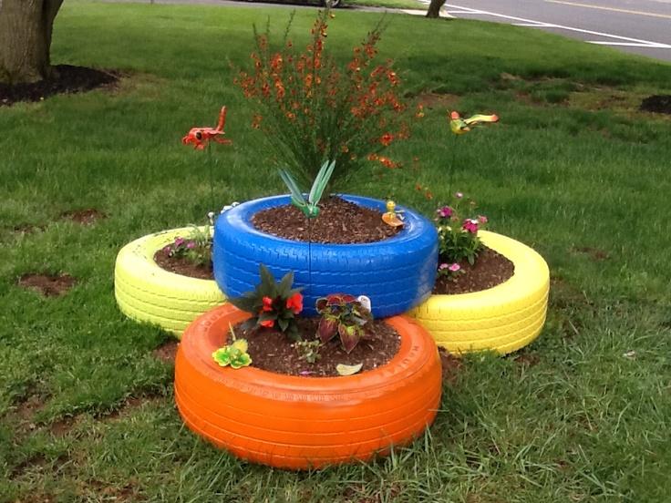 Garden Ideas With Tires
