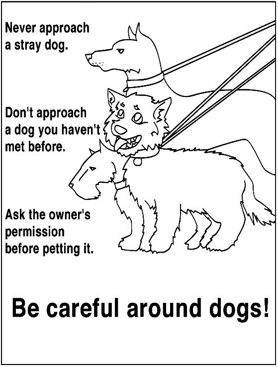 coloring pages for kids safety - photo#27