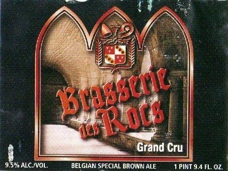 Cerveja Abbaye des Rocs Grand Cru, estilo Belgian Dark Strong Ale, produzida por L'Abbaye des Rocs, Bélgica. 9.5% ABV de álcool.