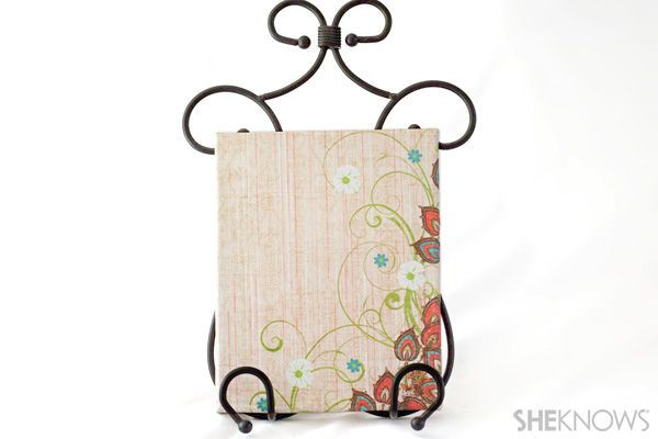 Scrapbook paper canvas craft  #DIY #canvas #craft #scrapbookpaper @SheKnows