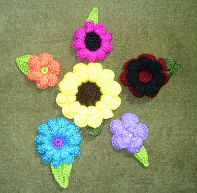 Flower en ganchillo.