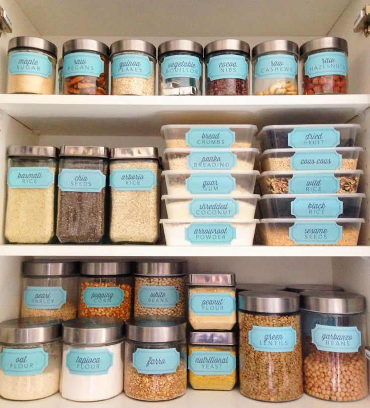 Pantry Organization Labels: The Social Home: New Pantry Label Collections