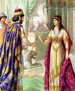 Queen Esther...saves her people from slaughter.