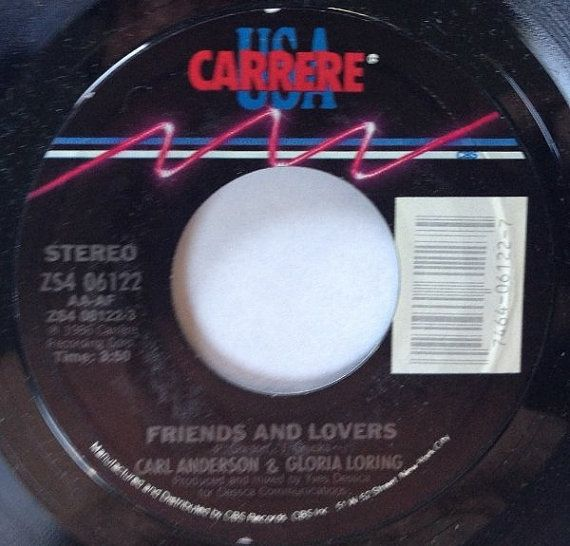Carl Anderson & Gloria Loring Friends And Lovers by Acvintagevinyl
