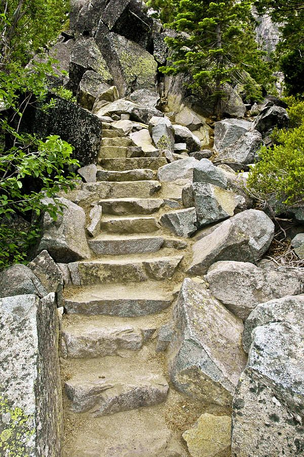 Staircase to Eagle Falls, near Emerald Bay, Lake Tahoe, CA