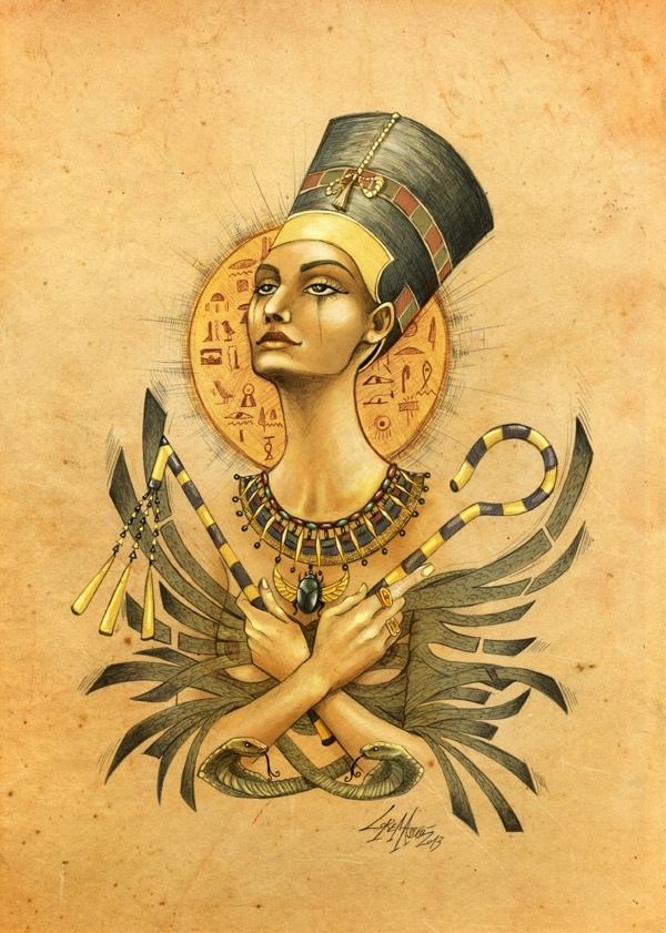egyptian queen drawing - photo #45