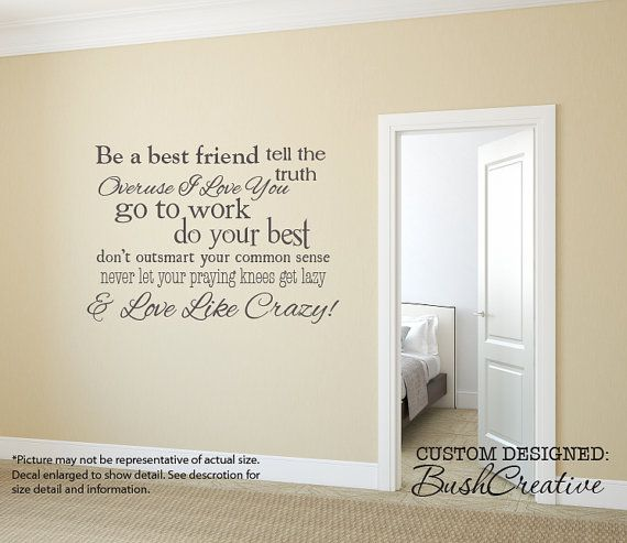 Vinyl Wall Decal lyrics to Love like crazy by Lee Brice This listing  measures aprox 40 wide by 28 tall  This decal will come in 2 pieces. 49 best Plotter Wall Quotes images on Pinterest   Vinyl wall