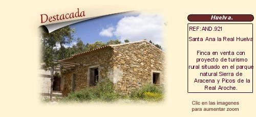 AND921 Santa Ana la Real. Huelva.  Finca en venta con proyecto de turismo rural. http://www.lancoisdoval.es/casas-rurales-en-venta.html