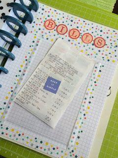 create something : Organize your bills