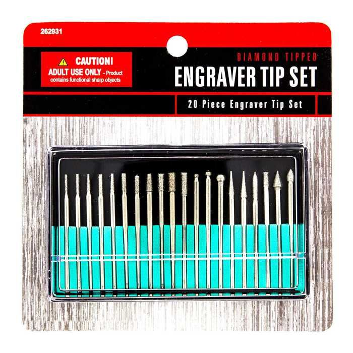 Diamond tipped 20 piece engraver tip set wishing for for Jewelry soldering kit hobby lobby