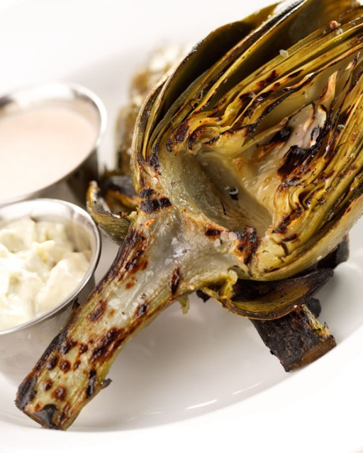 Grilled Castroville Artichoke with Meyer lemon mayonnaise and chipotle ...