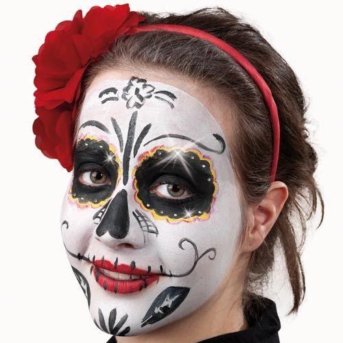 35 besten halloween make up bilder auf pinterest fasching halloween ideen und mexikanische - Mexikanische totenmaske schminken ...