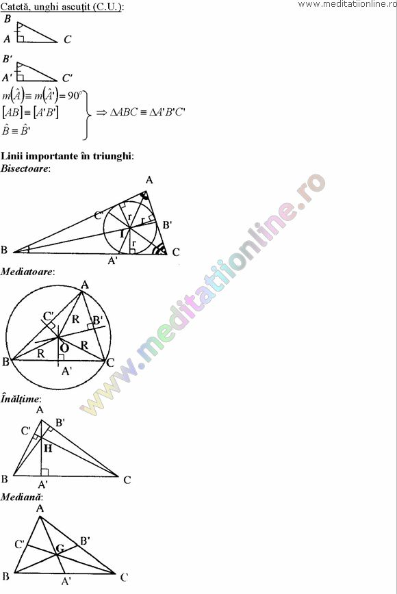 Formule matematica gimnaziu 5 8 Formule si teorie Geometrie plana si in spatiu si Trigonometrie pagina 5