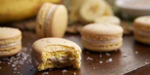 Banana Caramel Sea Salt Macarons