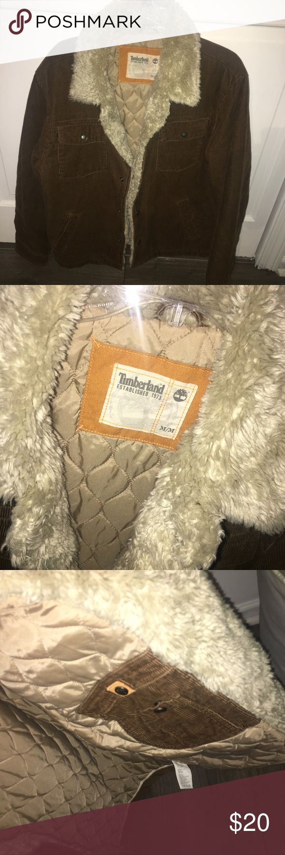 "❗️ FUR TIMBERLAND JACKET ❗️ * men's timberland fur jacket  * exterior is corduroy  * size medium  * in great used condition  ❌ NO TRADES ❌ ✨ AUTHENTIC ✨ 🌀 MAKE OFFERS 🌀  *** If you see more than one item you like, click on the ""add to bundle"" option & give me an offer! I make amazing bundle deals! 💥 #bin1 Timberland Jackets & Coats"