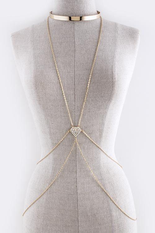 how to wear body chain jewelry