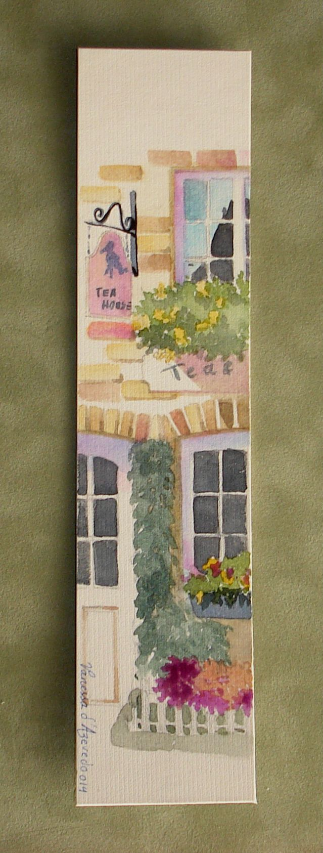 Watercolor bookmark patterns - Watercolour On Card 22x5 5cm